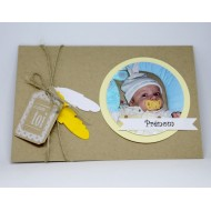 Faire part de naissance - Kraft et photo