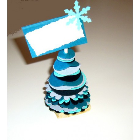 Marque place sapin turquoise